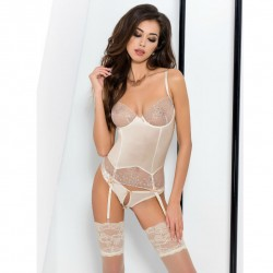 PASSION LOTUS CORSET CREAM S M